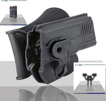 Pištoľové púzdro Cytac pre Glock 34 s pádlom + opasková redukcia + molle redukcia 2